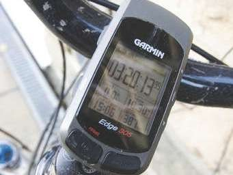 The Garmin Edge provides both average and max data.