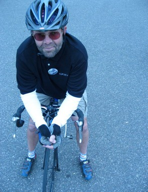 Gary Sjoquist, bicyclist.