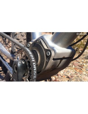 Gates' Carbon Belt drive keeps the ride quiet, smooth, and maintenance free
