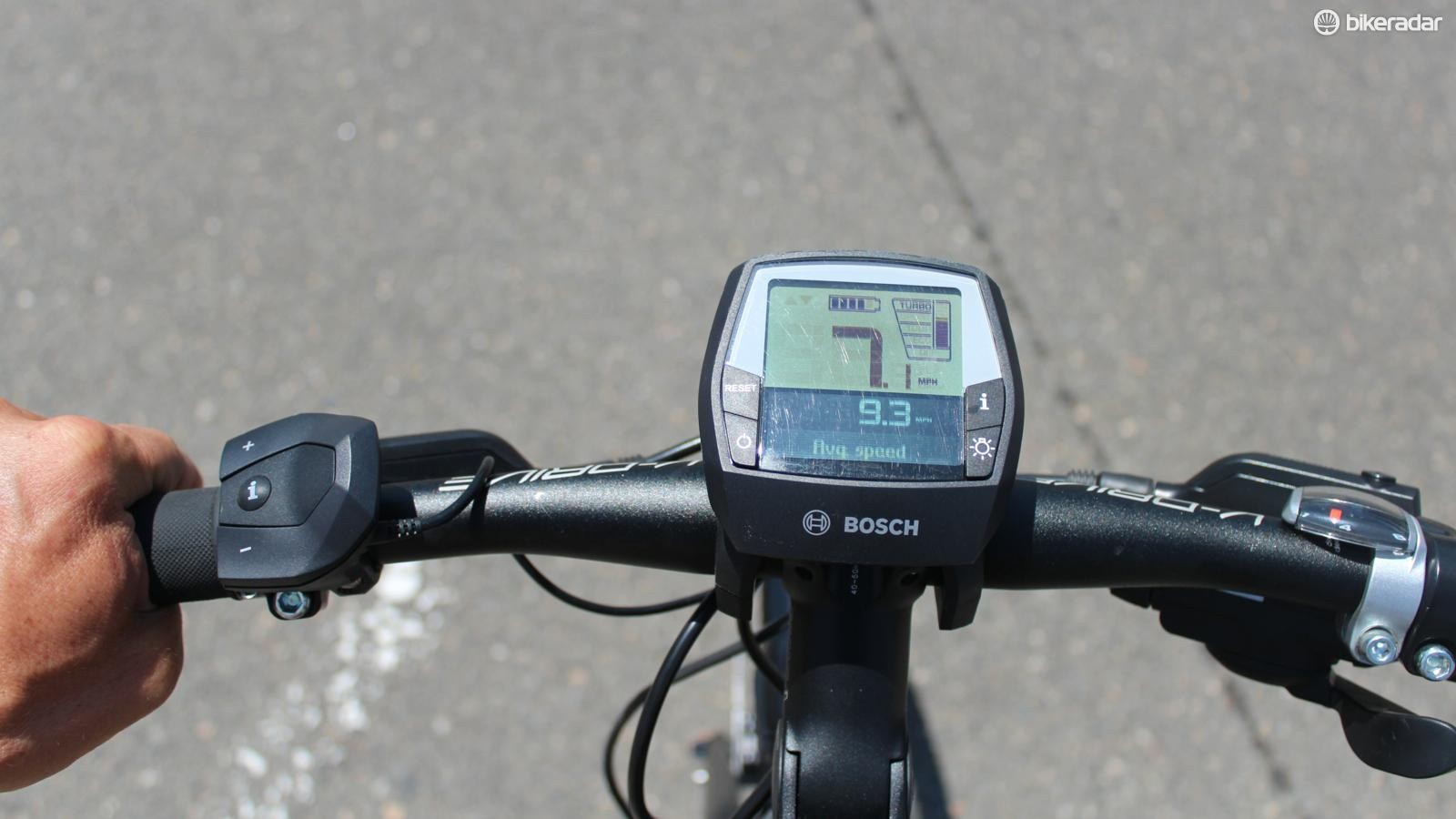 The Gazelle CityZen cockpit features traditional gear shifting on the right, electric-power assistance controls on the left, and the dashboard computer in the center