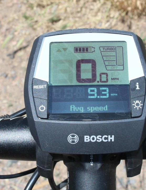 Turbo is the highest assitance setting. The vertical bar at far right indicates how much electric power you're getting while pedaling