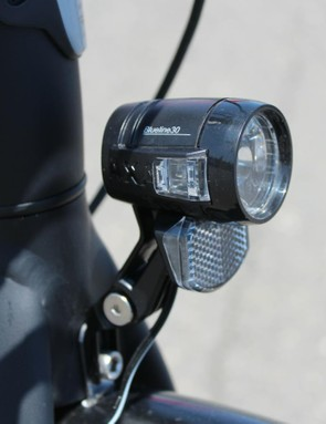 The battery also powers the lights whenever the bike is switched on