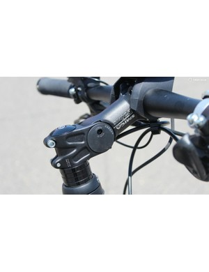 The stem can be adjusted for angle and height, to help you get a comfortable position