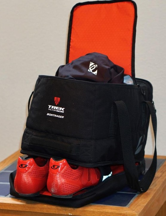 The Bontrager Rain Bag is what I use as my race bag