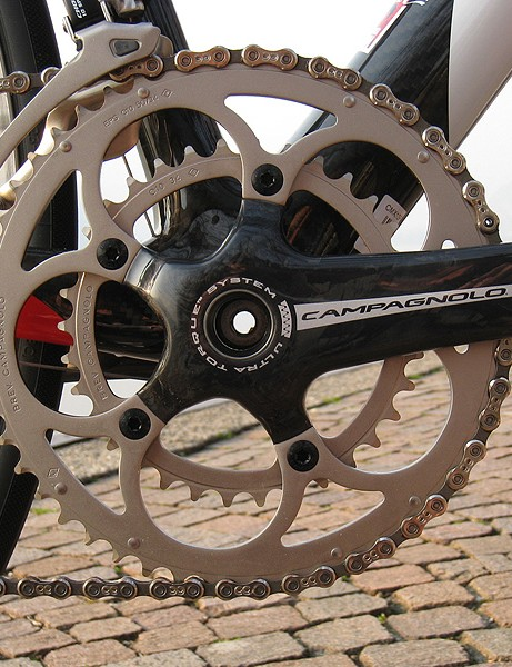 The Chorus CT crankset provided plenty of gears for scaling veritable walls.