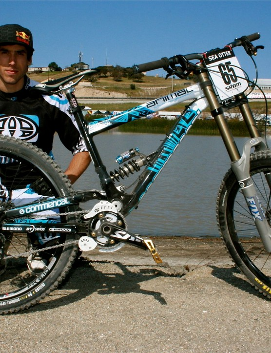 Gee Atherton, happy as a clam in Monterey, California.