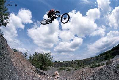 Team Animal/Muddy Fox Mountainbiker Gee Atherton, Frome, Somerset,UK.28/06/02.