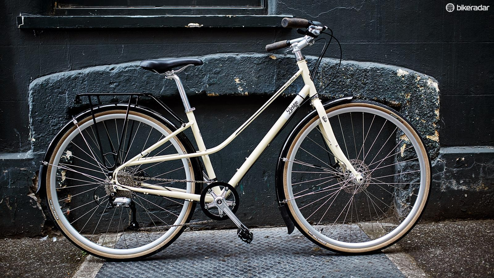 The Genesis Columbia Road is a city bike with a step-through frame