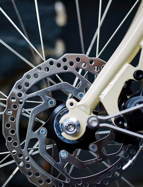 Disc brakes provide consistent breaking power in wet conditions