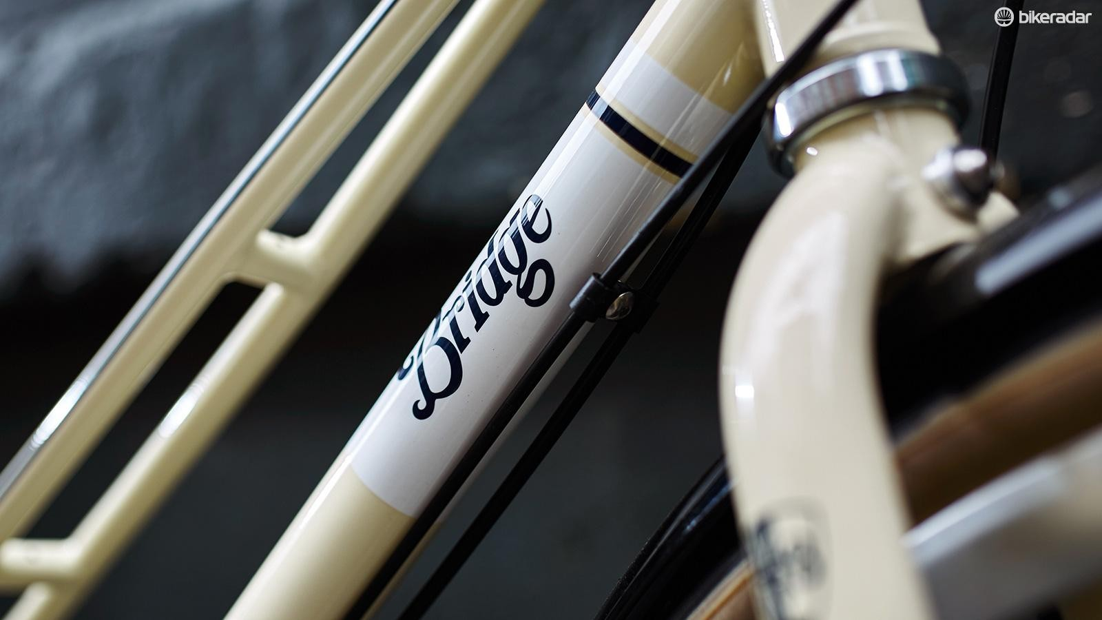 The bike has a classic, eye-catching design