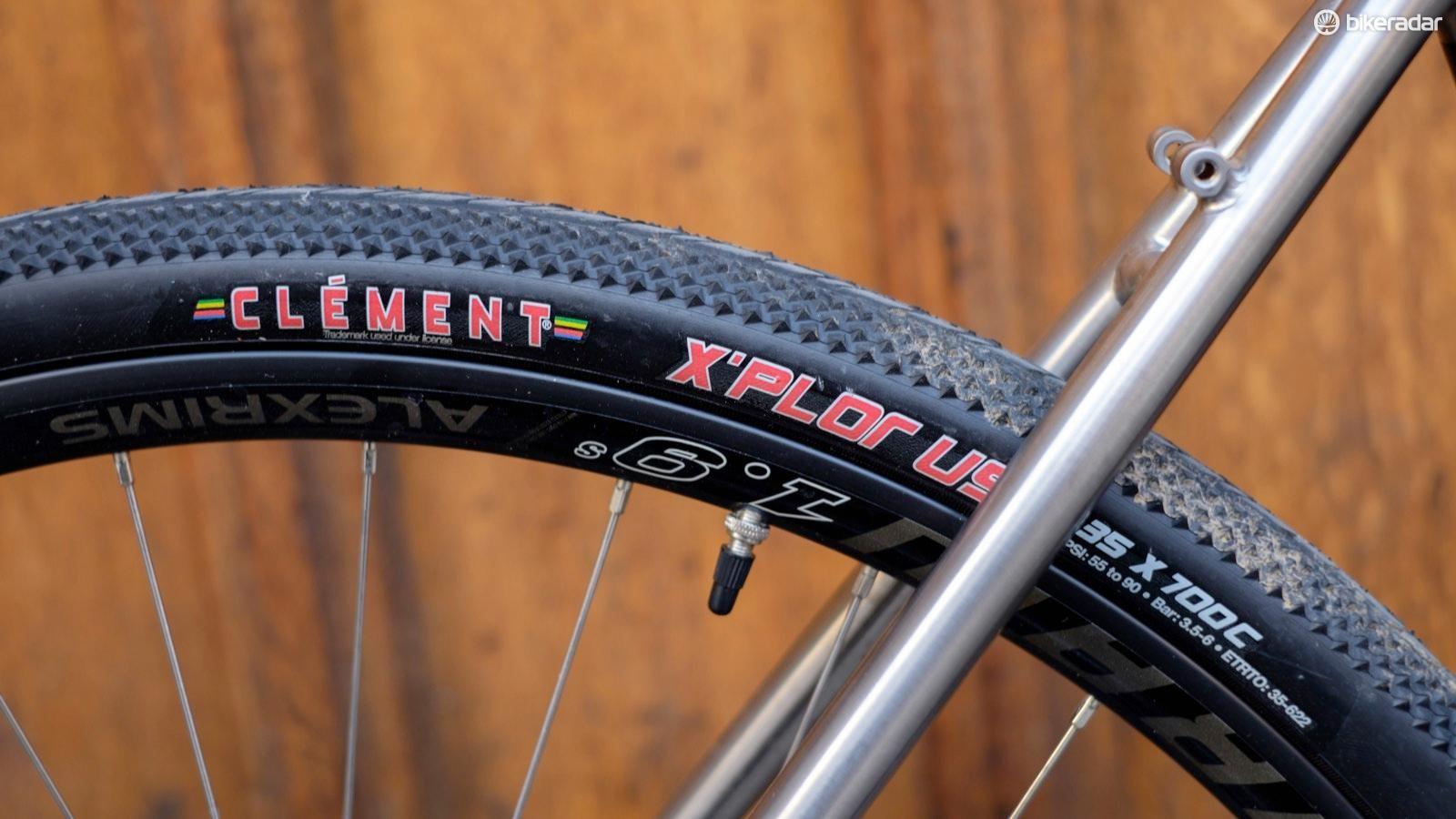 Clement X'Plor tyres in 35mm width adorn Alex Draw rims