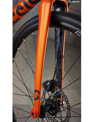 The full carbon fork has long been a favourite on Genesis' bikes