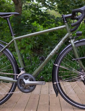 The new 2017 Genesis Tour de Fer 20, a mean, deeply satisfying forest green, touring machine