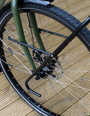 Super-strong Sun Ringle Rhyno Lite hoops are laced to ultra reliable Shimano Deore hubs