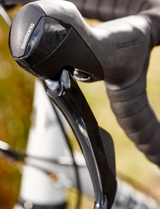 The shape of the Shimano 505 brake hoods won't suit everyone