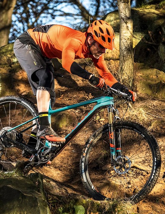 Despite its race-bike looks, the Mantle is tons of fun on the trail