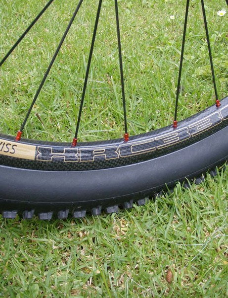 Carbon rimmed DT Swiss wheels