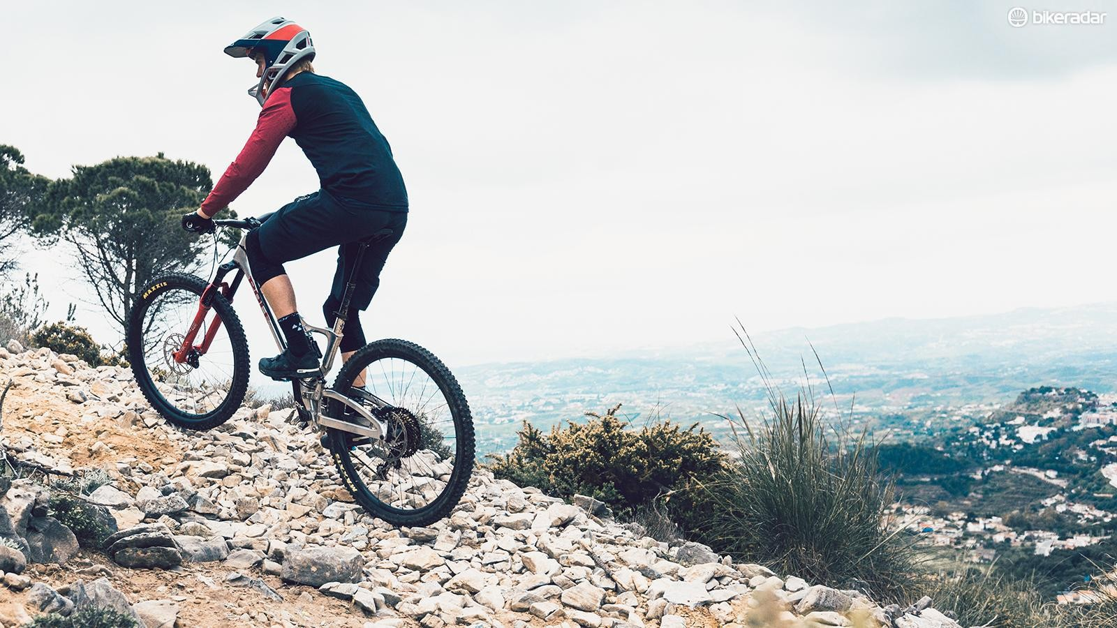 Steeper effective seat angles compensate for suspension compression and uphill gradients