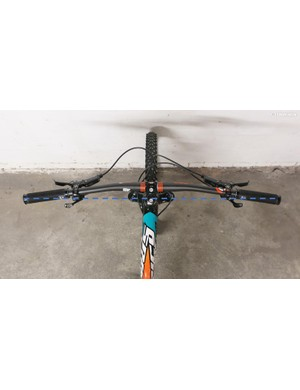 The degree of backsweep in a handlebar greatly affects the all-important hand position. In some cases, the grips can be behind the steering axis