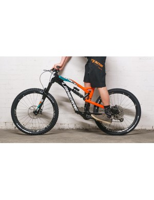 The geometry of any bike with suspension will change due to the static weight of the rider