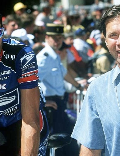 George Hincapie and Jim Ochowicz at the '99 Tour.
