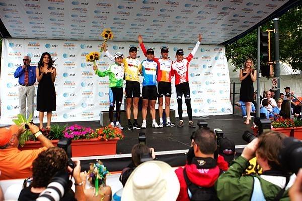 Final jersey podium of the 2008 Tour de Georgia.