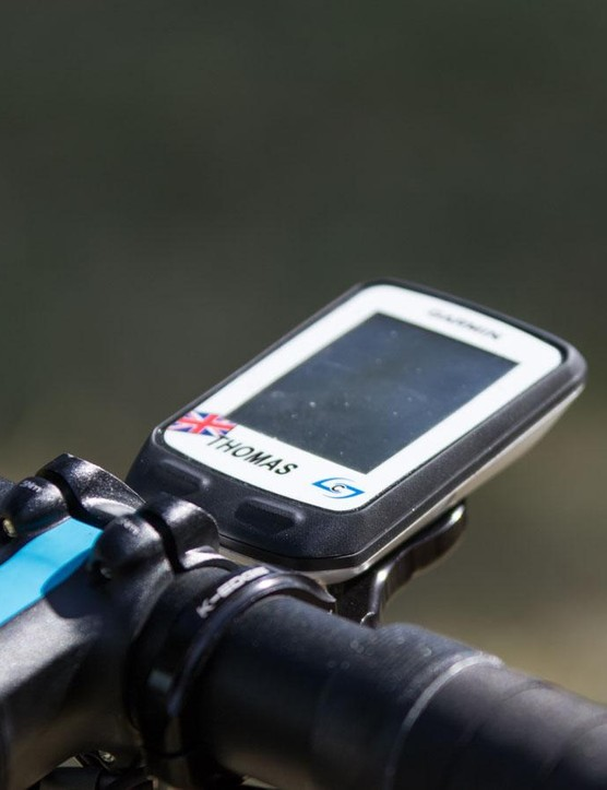 Team Sky use Garmin Edge 510 units to recieve those big power figures