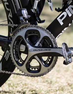 The Stages power meter sits on the left crank arm only. This means that from some angles it's easy to assume that Sky aren't using a power meter