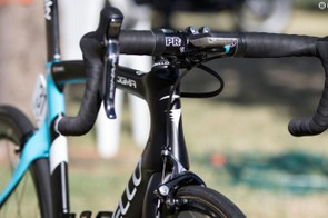 The Pinarello Dogma F8 is an aero frame, the slippery profiles were designed in partnership with Jaguar