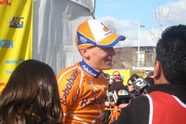 Rabobank's Robert Gesink, all smiles in San Jose.
