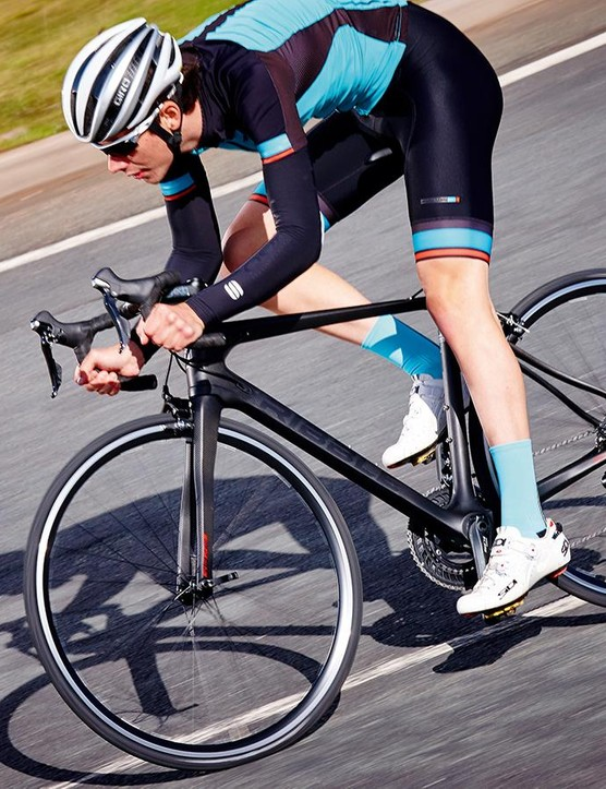 Getting in your most aero position will help you cut through the air more smoothly and quickly
