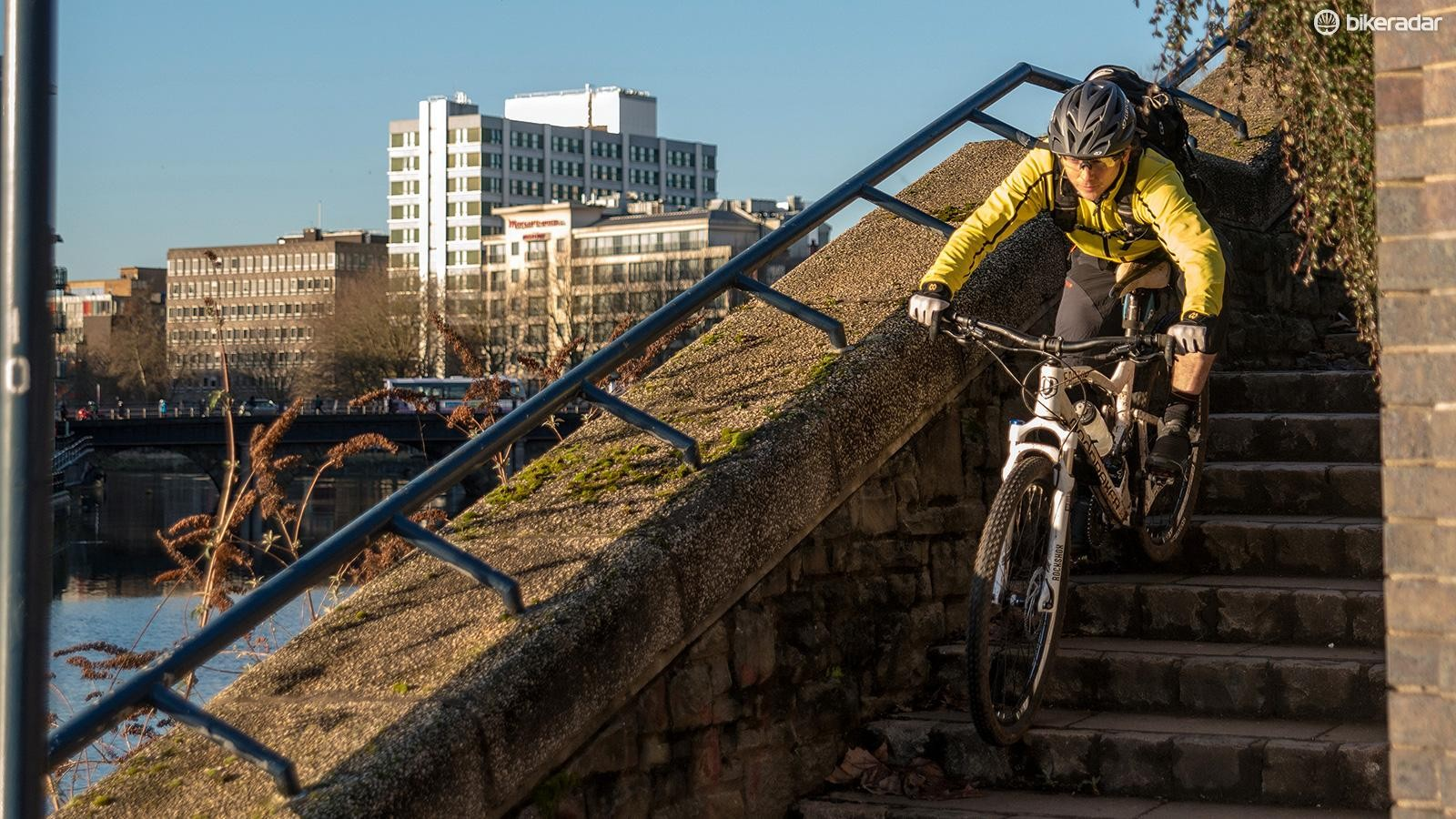 Make like Danny MacAskill and think of your commute route as parkour for bicycles!