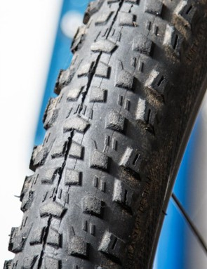 Mountain bike rubber may suffer from tearing knobs well before the central tread shows wear