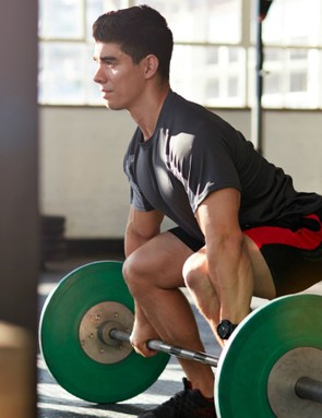 Dead lifts are great for helping you to keep pedalling on the drops