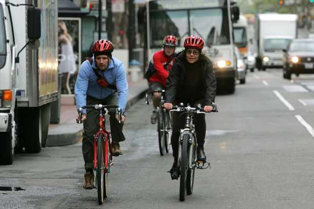 Whether riding in a group or solo, keep it simple and easy to understand by pointing the direction you're going to turn