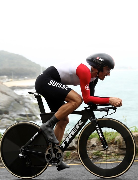 Fabian Cancellara is another good example of getting in a good time trial position