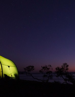 Camping while you cycle is the cheapest way to tour overseas