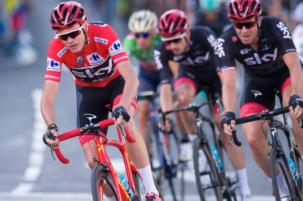 Chris Froome rode a custom Pinarello Dogma F10 at the final stage of the Vuelta a Espana