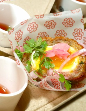 This is probably the fanciest looking Scotch egg we've seen