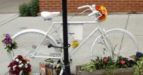 Ghost bike memorials have been set up around the Twin Cities this month.