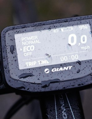 The Giant RideControl head unit keeps you abreast of developments