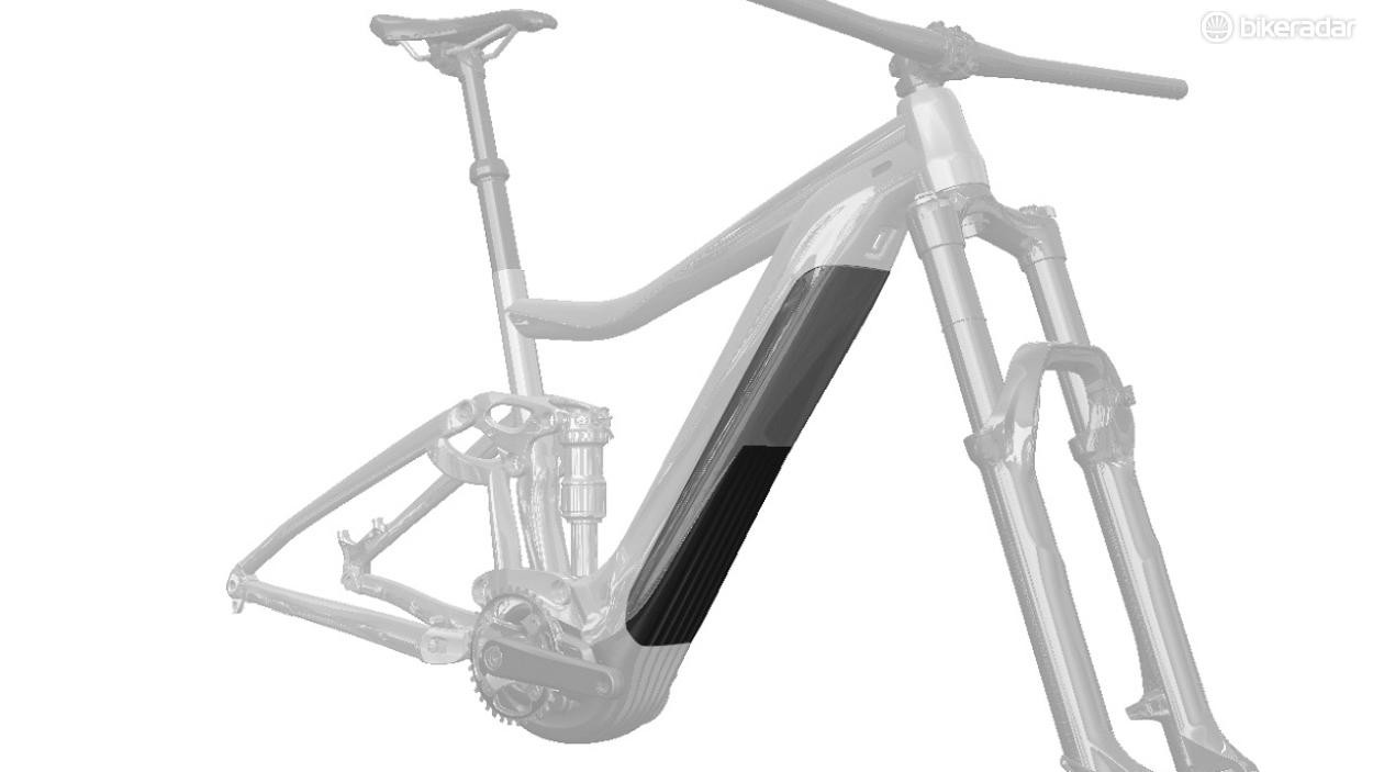The new battery will be placed as low as possible in the down tube