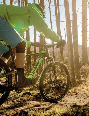 Don't be deceived by those XC racer looks — the Anthem is looking for trouble!