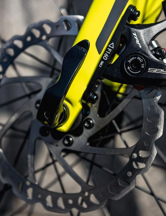 TRP Spyre C disc brakes with 160mm rotors