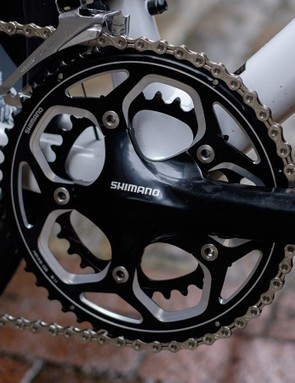 The RS500 crankset is a cost-saving choice but a decent one