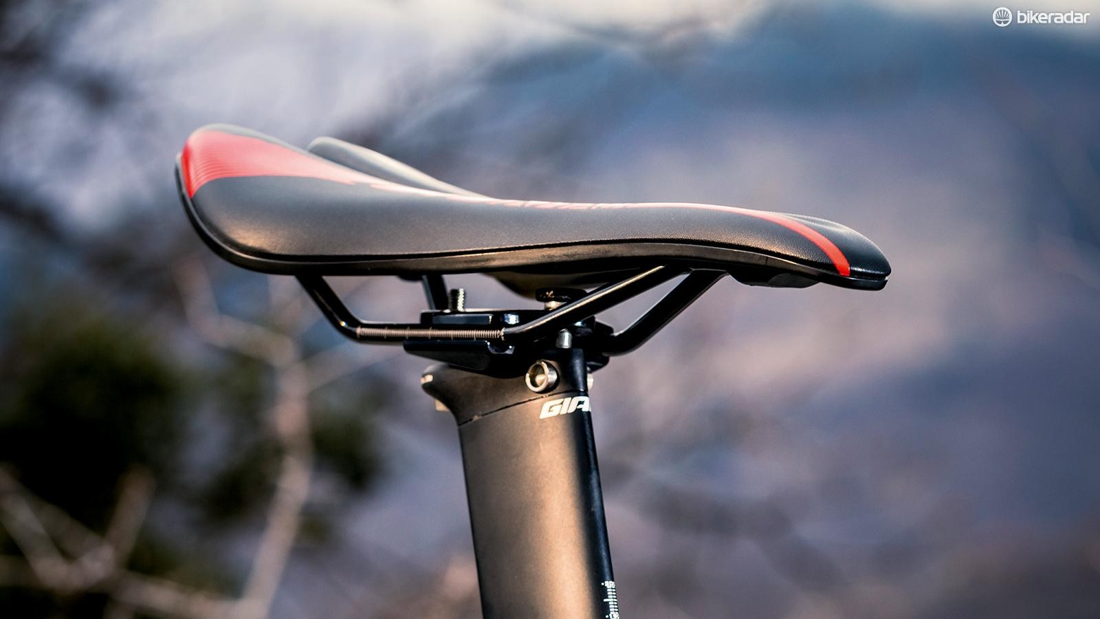 Own-brand kit extends to the Giant Contact saddle