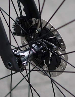 Thru-axles with Allen bolts make for a clean look, but perhaps not the fastest wheel change