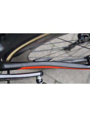 Giant builds a speed/cadence sensor into the chainstay on many of its road bikes