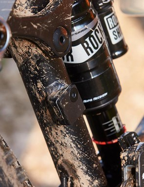 The Monarch Plus RC3 controls the 160mm of rear wheel travel