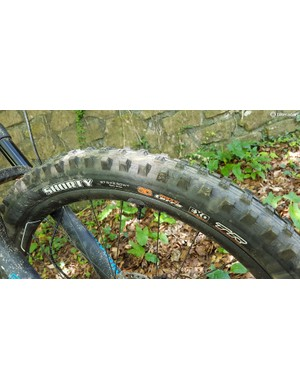 The Maxxis Shorty has to be one of BikeRadar's favourite UK winter tyres — great to see it on the Reign
